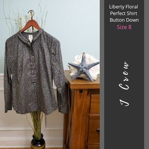 J Crew | Liberty Floral Perfect Shirt Button Down